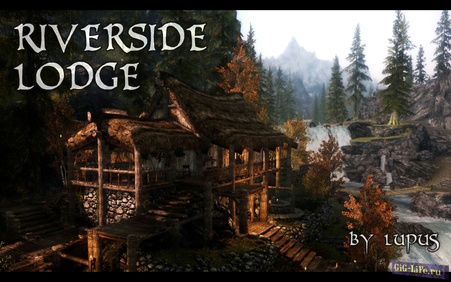 Усадьба Риверсайд с сауной / Riverside Lodge - Hearthfire Supported
