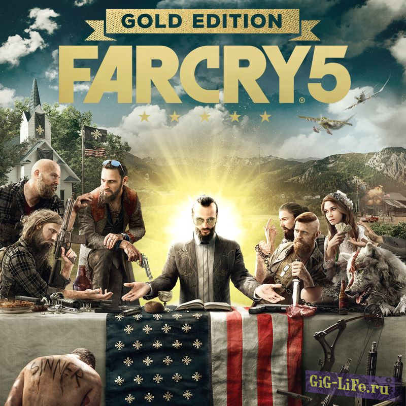 Far Cry 5: Gold Edition [v 1.4.0.0 + DLCs] (2018/PC/Русский), Repack от xatab