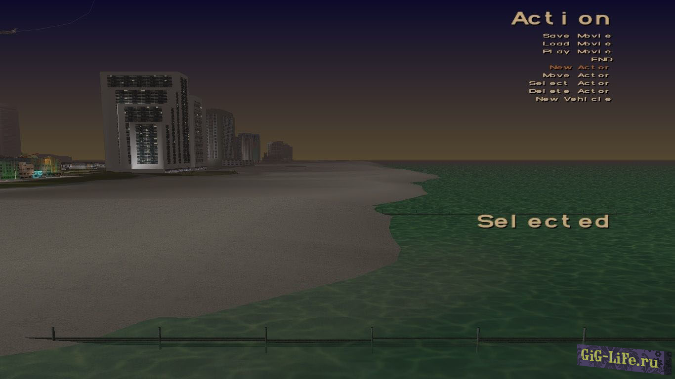 GTA Vice City R* movie menu